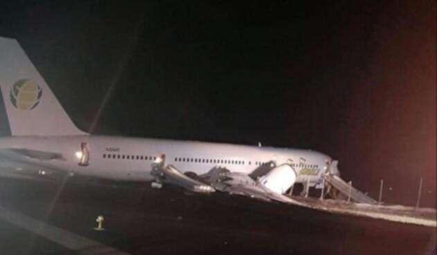 Avión Guayana aterrizaje emergencia