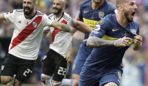 Celebración de goles en la final de Libertadores entre Boca y River
