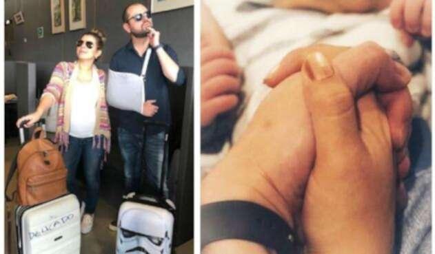 Bebé de Ricardo Quevedo y Liss Pereira