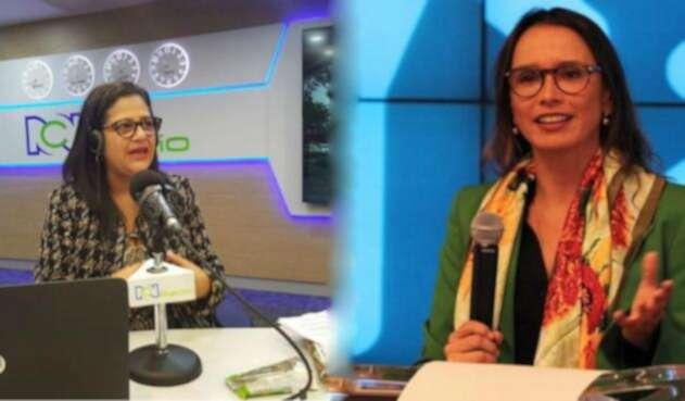 Carmen Teresa Castañeda y María Consuelo Araujo