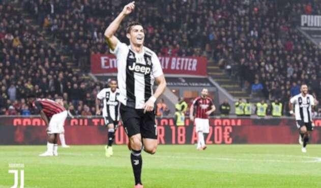 Cristiano Ronaldo celebrando con Juventus
