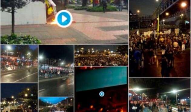 Los desmanes en la ciudad de Bogotá durante las protestas estudiantiles