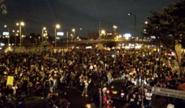 En las más recientes protestas de los estudiantes, el Transmilenio ha sido bloqueado.