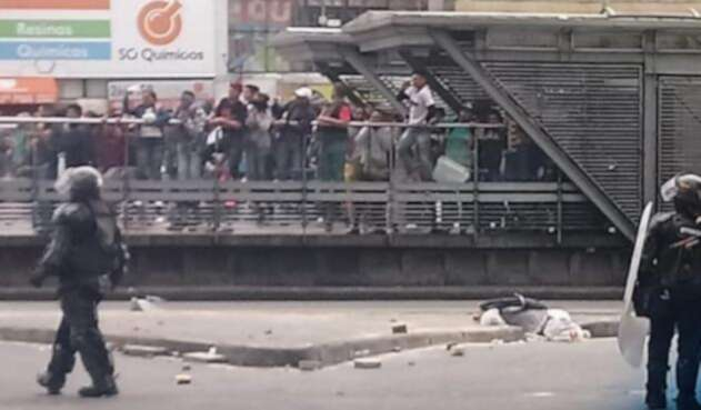 Disturbios en la Avenida Jiménez