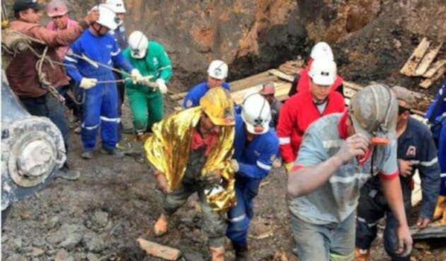 Mineros en Lenguazaque