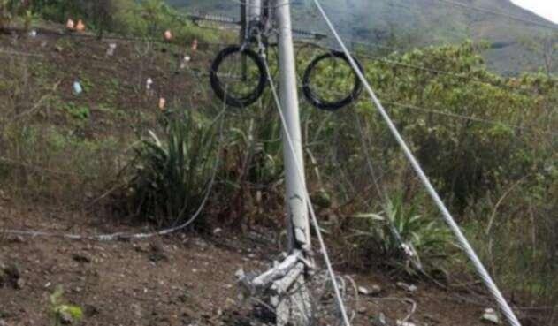 Atentado poste energía, Cauca