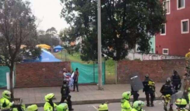 Enfrentamiento en campamento de venezolanos
