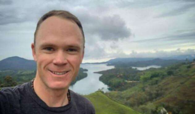 Chris Froome en Colombia
