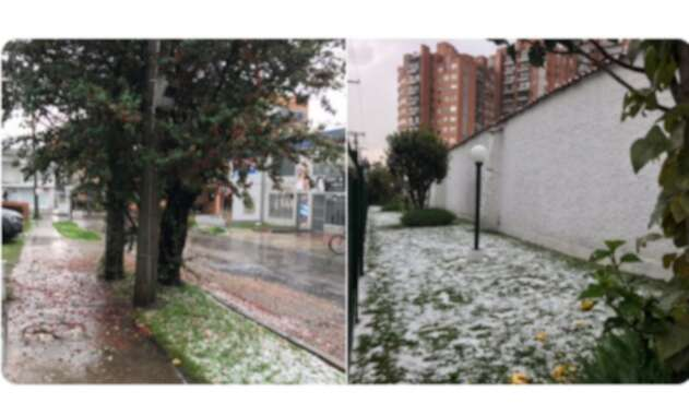 Así fue la granizada en Bogotá
