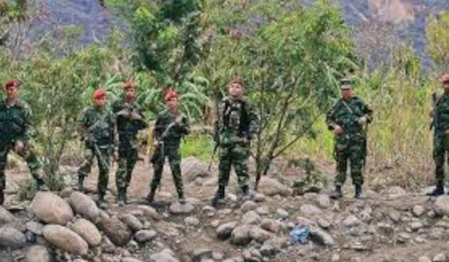 Guardia venezolana en la zona de frontera