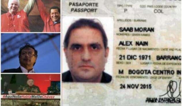 El diputado Rafael Ramírez, el senador Gustavo Petro y el empresario barranquillero Alex Saab