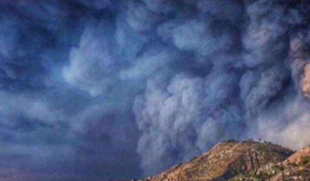 La imagen de los incendios en California publicada por la presentadora Claudia Bahamón