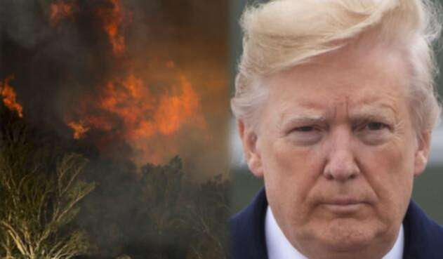 Imágenes de los incendios en California y Donald Trump
