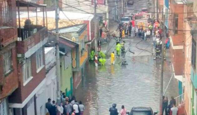 Habitantes del barrio las Mercedes fueron afectados por las inundaciones