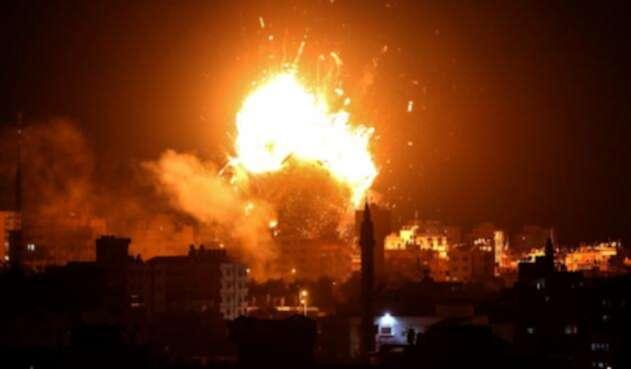 El ejercito israelí bombardeó el edificio de Al-Aqsa TV, la cadena del movimiento islamista palestino Hamas.