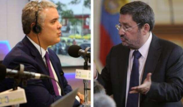 El presidente Iván Duque defendió que Pacho Santos ha trabajado por lo mejor para el país con autoridades de EE.UU.