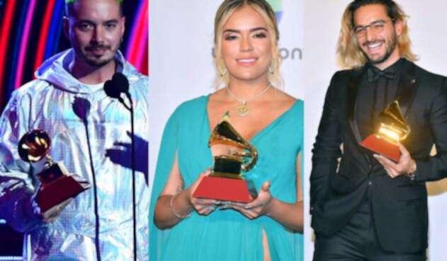 J Balvin, Karol G y Maluma ganaron un Grammy