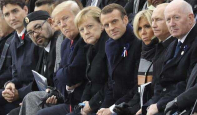 Algunos líderes del mundo en París