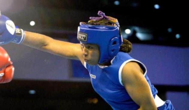 Jessica Caicedo en Mundial de Boxeo en Nueva Deli