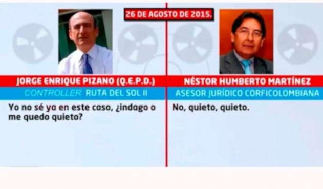 La conversación entre Jorge Enrique Pizano y Néstor Humberto Martínez
