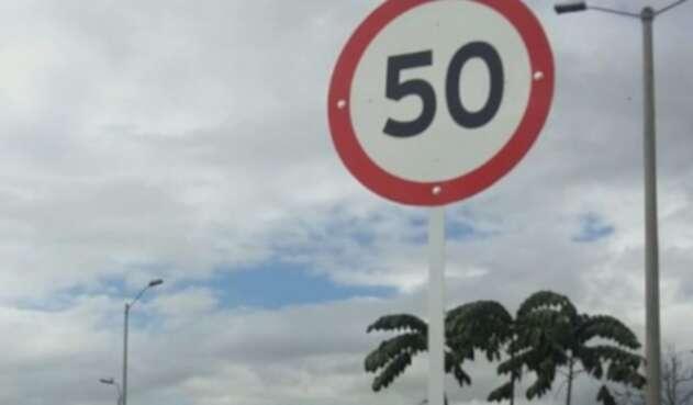 Límite de velocidad de 50k/h