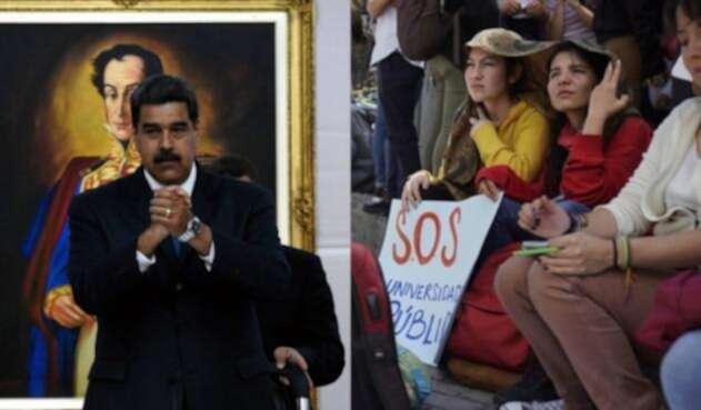 Maduro propone becas a estudiantes colombianos