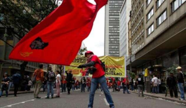 Marchas de centrales obreras en Bogotá