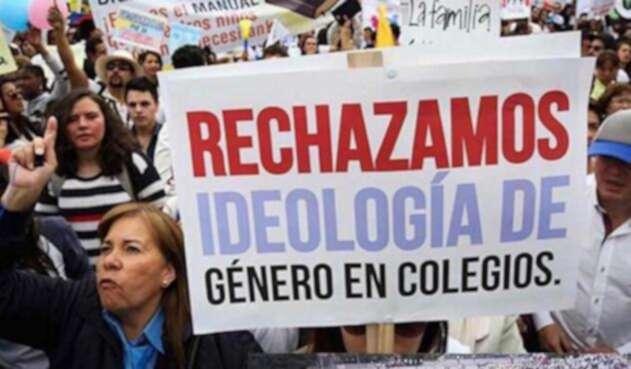 Marcha de grupos religiosos