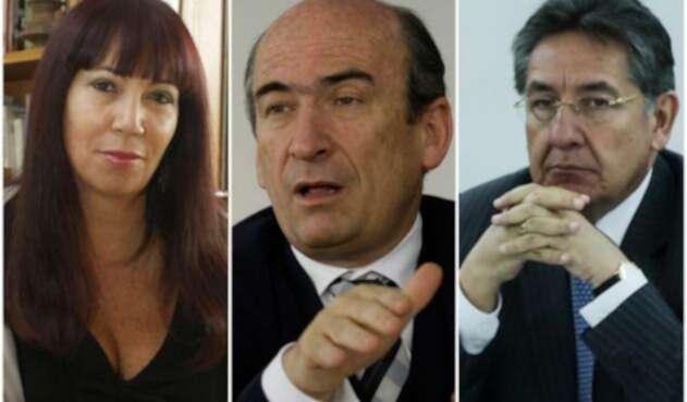 María Jimena Duzán columnista; Jorge Enrique Pizano;  excontroller de la concesión Ruta del Sol (fallecido) y Néstor Humberto Martínez, fiscal general de la Nación