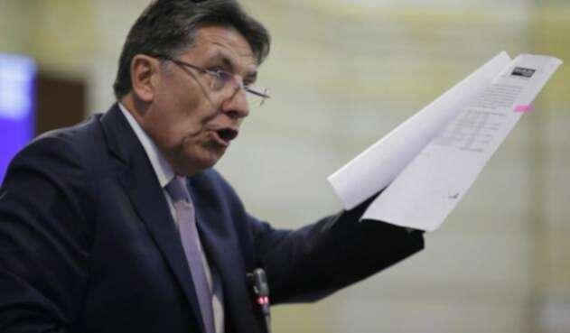 Néstor Humberto Martínez durante su intervención en el Congreso de la República en el debate por Odebrecht