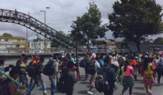 Minga Indígena en Bogotá