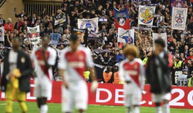El Mónaco tras perder contra el PSG