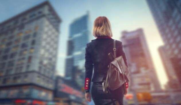 Una mujer en las calles de Nueva York, en Estados Unidos