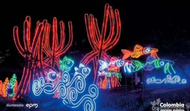 Imagen promocional de EPM sobre la Navidad en Medellín en 2018