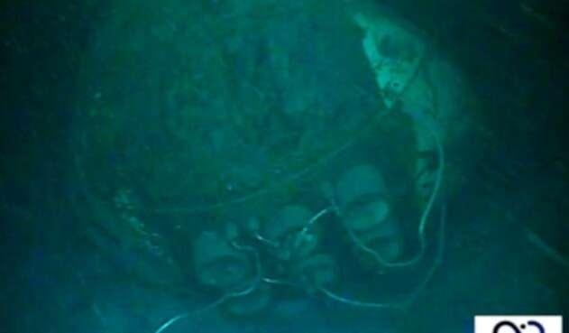 El submarino Ara San Juan en el lecho marino del Atlántico Sur, a 900 metros de profundidad