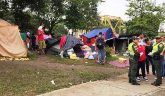 Las autoridades realizaron operativos en las zonas invadidas por los venezolanos