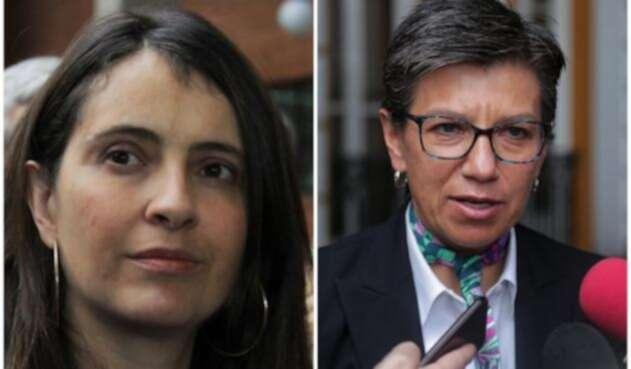 Paloma Valencia (senadora) y Claudia López (exsenadora)