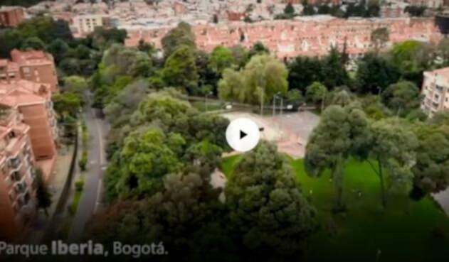 Más de 30 mil metros cuadrados tiene el parque Iberia, ubicado en el noroccidente de Bogotá