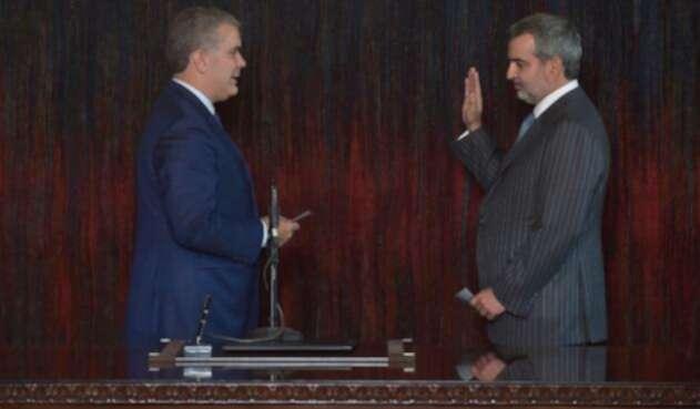 Presidente Iván Duque con Juan Pablo Liévano Vegalara nuevo superintendente de Sociedades