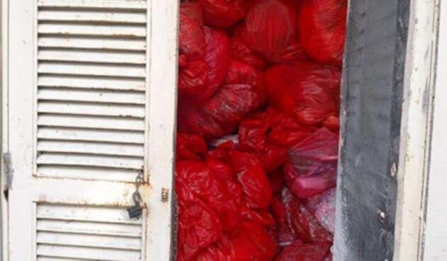Los residuos estaban dispuestos de manera inadeucada