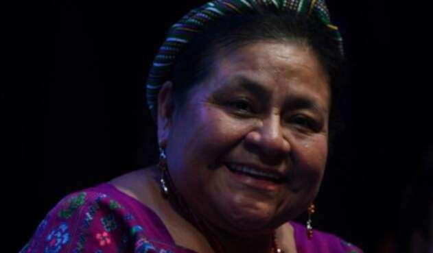 La premio Nobel de Paz, Rigoberta Menchu envió un mensaje de apoyo a los estudiantes colombianos durante una visita a Valledupar.