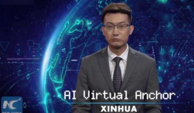 Xinhua usa un presentador virtual para reportar las noticias