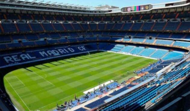 El estadio Santiago Bernabéu, en Madrid (España)