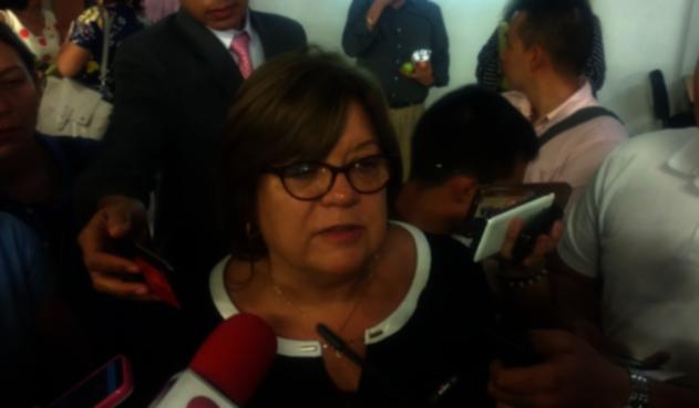 La Ministra visitó Ibagué para participar en un foro sobre la reforma a la justicia.