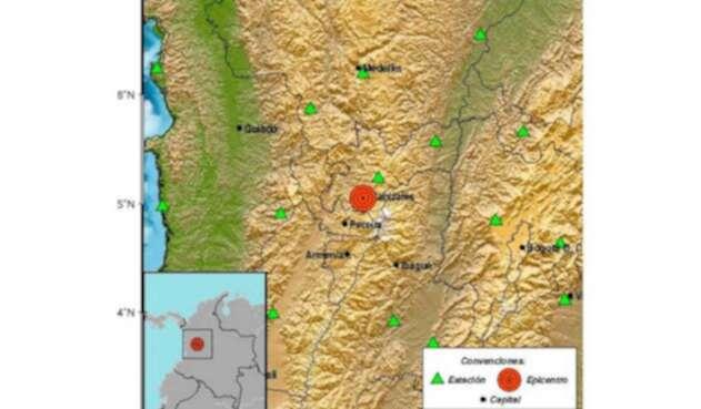 En Manizales se produjo un sismo de 4.0 grados