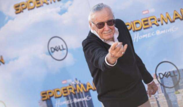 Stan Lee en la premier de Spider-Man: Homecoming