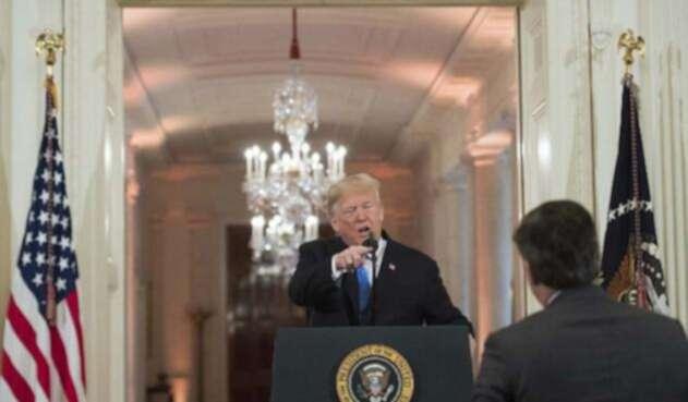 Donald Trump y Jim Acosta