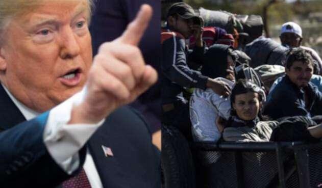 Trump amenaza con cerrar frontera y pide a México que devuelva a los migrantes a su país.