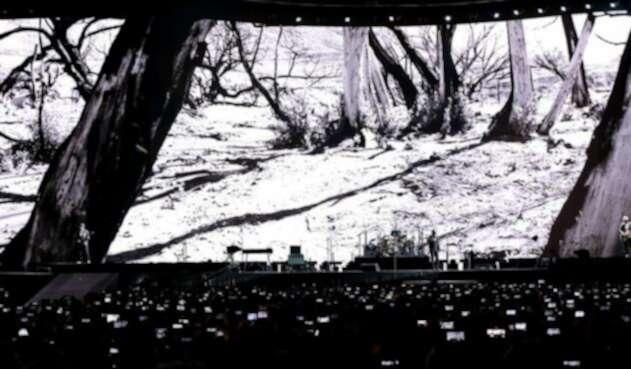 La banda irlandesa U2 se presentó en el estadio el Campín, en Bogotá, como parte de su gira Joshua Treeel, 8 de octubre de 2017