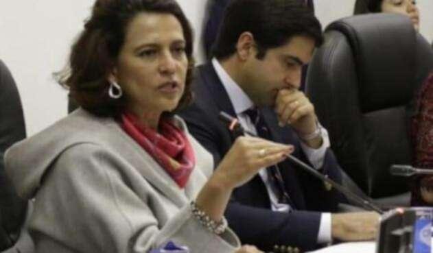 Ministra del Interior, Nancy Patricia Gutiérrez, en Comisión Primera de Cámara.
